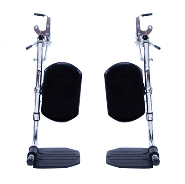 Elevating Legrests for Wheelchairs, w/padded calf pad