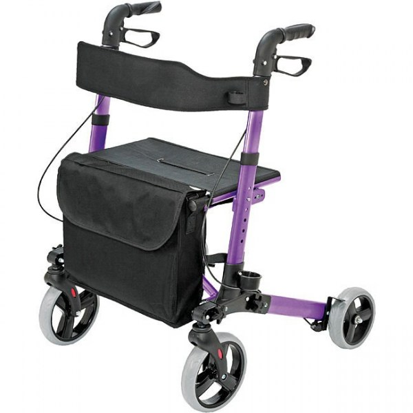 Gateway Eurostyle Rollator with Bag on in Purple