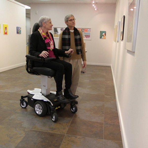 Jazzy Air Power Wheelchair at play