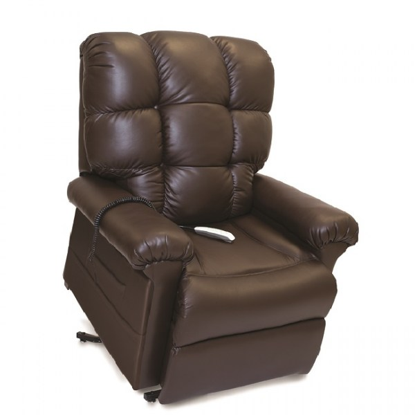 Pride Oasis LC580i in Fudge Ultraleather fabric