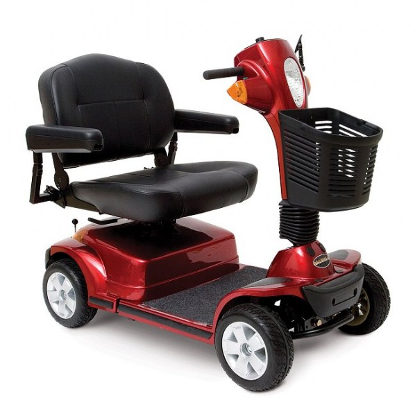 Maxima Heavy Duty 4-Wheel Scooter in Red