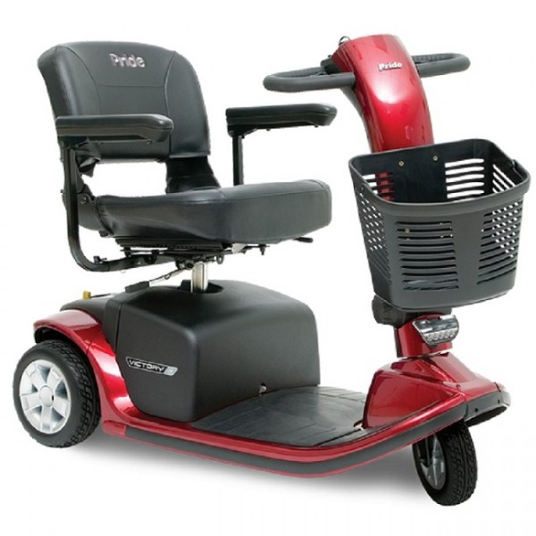Pride Victory 9 3 wheeled scooter in Candy Apple Red