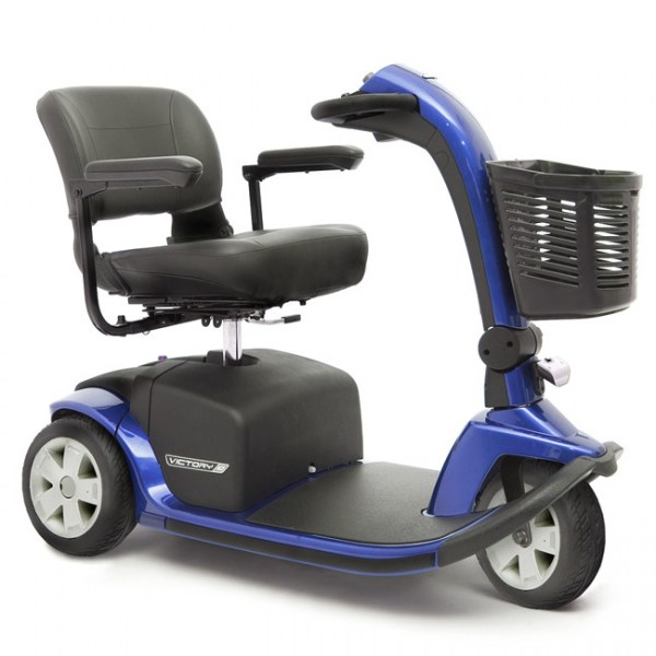 Pride Victory 10 3 wheeled scooter in Viper Blue
