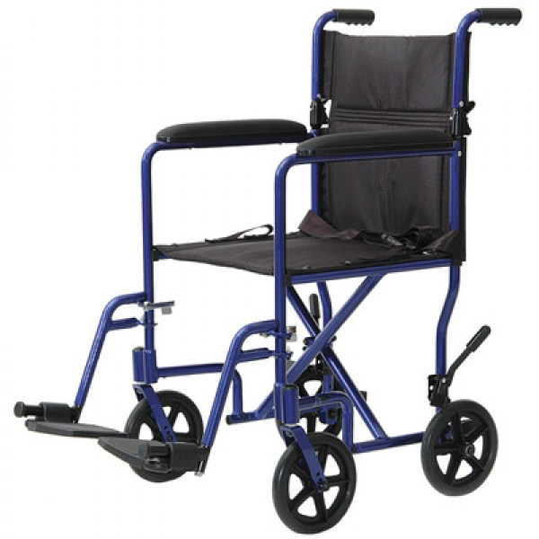 Lightweight Aluminum Transport Wheelchair 19""