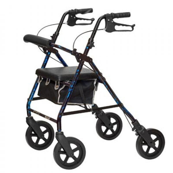 Aluminum Rollator in Flame Blue