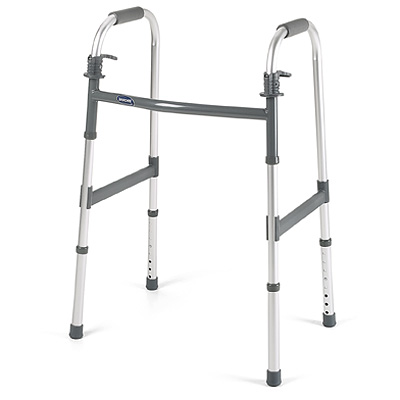 Invacare standard adult walker; dual paddle release