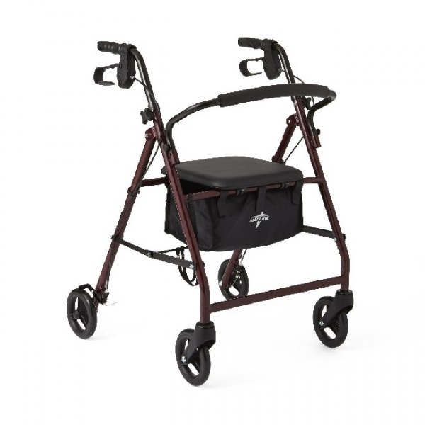 Medline Rollator in Burgundy