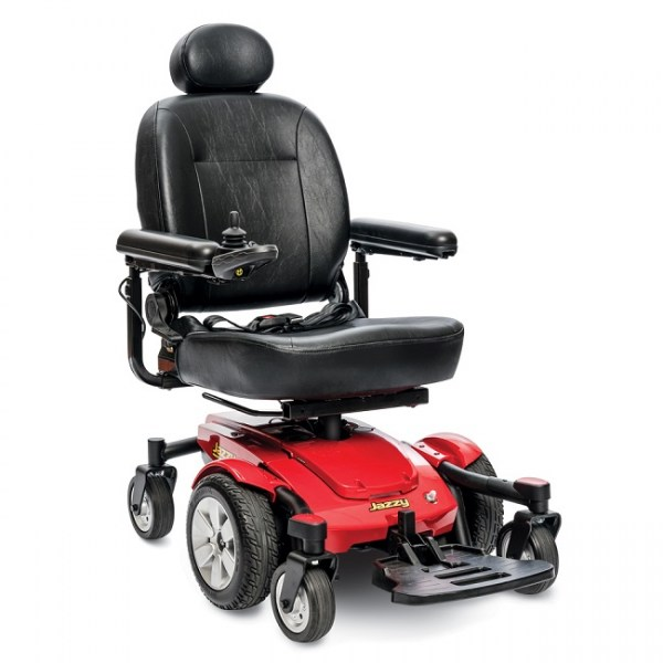 Jazzy Select 6 Power Chair; RED
