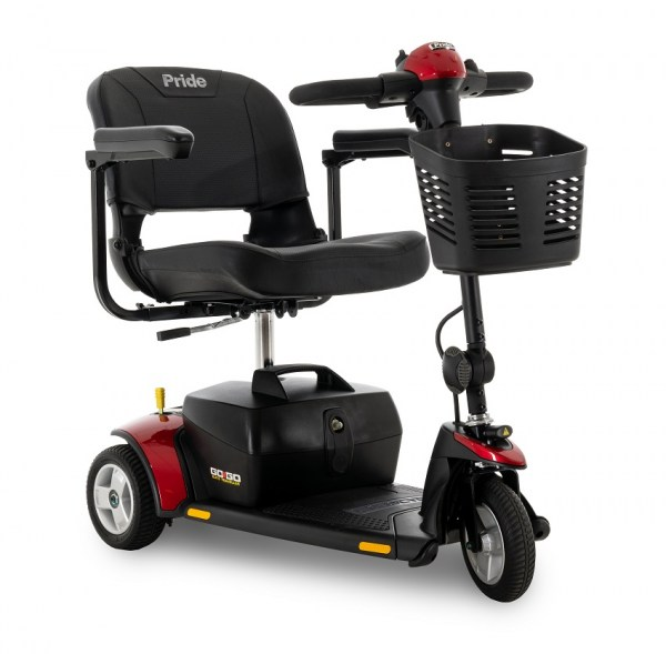 Pride Gogo Elite Traveller 3-wheel 17Ah battery in Red